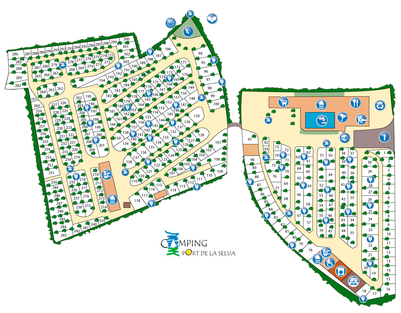 Plano Camping Port de la Selva